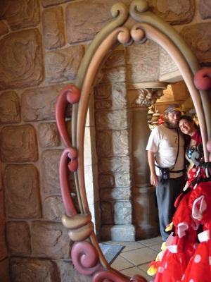 Espejo en el Castillo de Disney-Paris